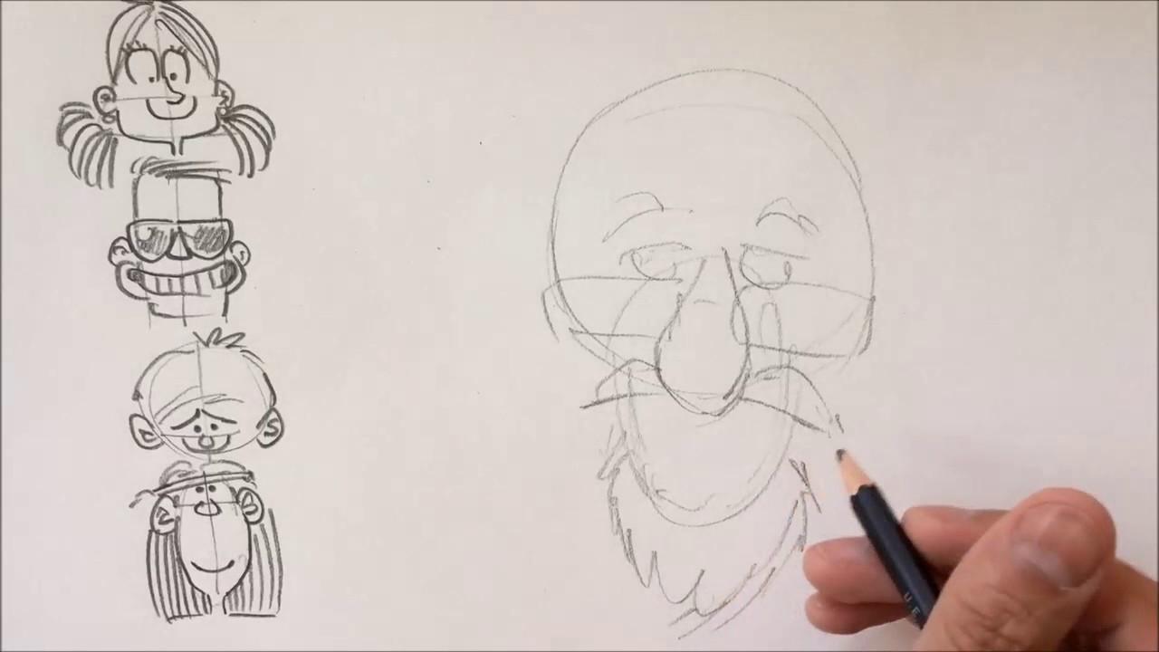 Aprende A Dibujar Caricaturas De Personas Youtube