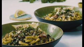 Speedy Sundried Tomato & Mushroom Fettuccine | HelloFresh | Vegetarian Recipes