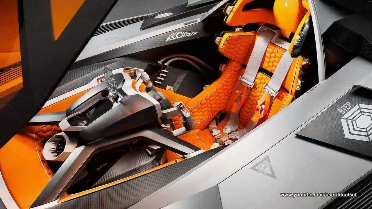 Interiors 2013 New Lamborghini Egoista Concept Youtube