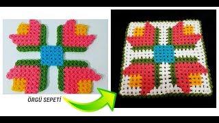 İstanbul lalesi lifi yapımı bu lif modeli how to knitting