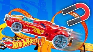 Magnetic Drift Challenge! | Fast Track | Hot Wheels