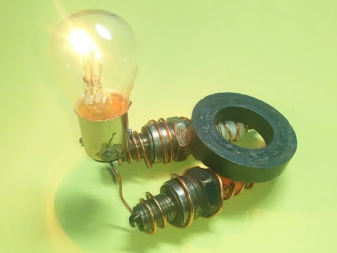make free energy with spark plug using light bulb real free electricity generator