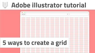 How to create a grid in Adobe Illustrator | Web and graphic design tutorial