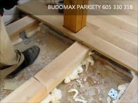 Układanie Podłogi Deski Dębowe Na Legarachavi