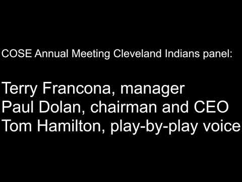 Cleveland Indians panel featuring Terry Francona, Paul Dolan and Tom Hamilton