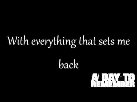 A Day To Remember - I'm Already Gone (Lyrics)
