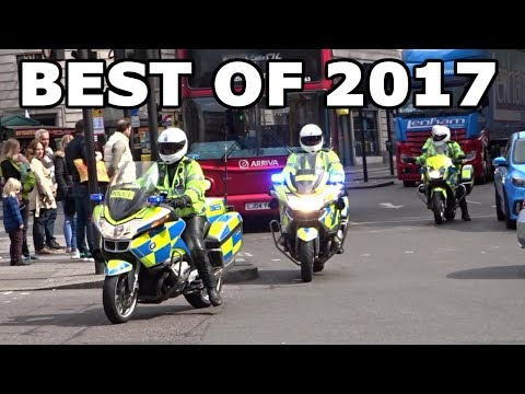 Emergency Services Responding - BEST OF 2017 - Sirens, horns and action!