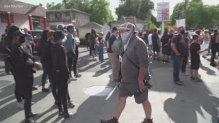 Hundreds protest for justice for George Floyd in Sacramento