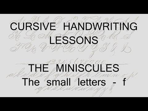 cursive lesson 17 - f - handwriting penmanship calligraphy copperplate