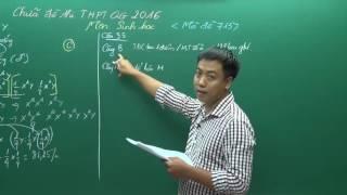 Đề thi THPTQG 2016 - Thầy Đinh Đức Hiền - Hướng dẫn giải đề Sinh (P2)