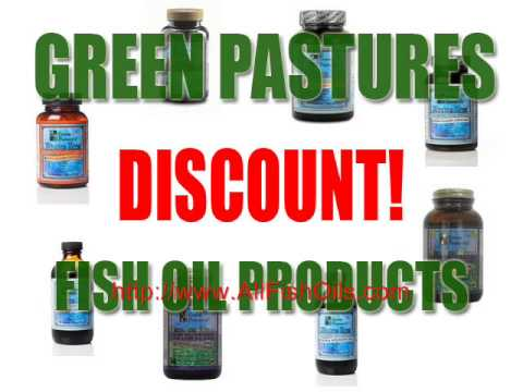 Green Pasture's Blue Ice Fermented COD Liver Oil -- 120 Capsules