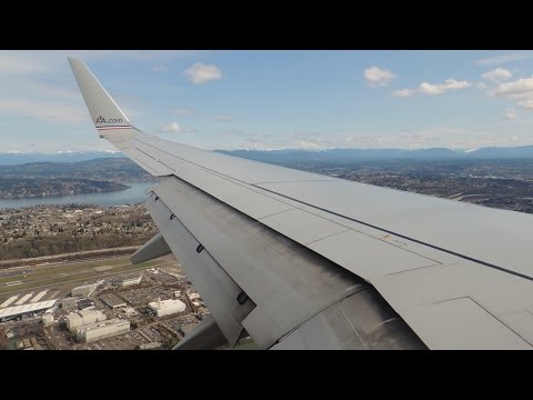 American Airlines Boeing 737-800 [N852NN] descent and landing in SEA