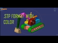 Convert to  .STP format with COLOR of Parts in Catia V5