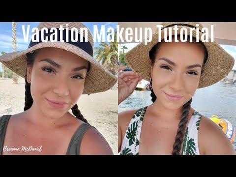 Vacation Makeup : Sweat Proof + Waterproof Makeup Tutorial | Breanna McDaniel thumbnail