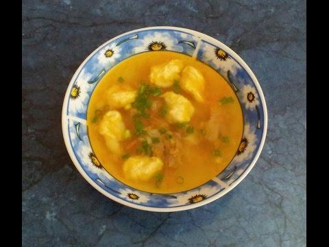 #Суп с клецками. #Видеорецепт.