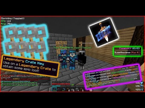 GOING P2W ON THE FIRST EVER COSMIC HCF MAP!! (12 Legendary Keys) -- CosmicPvP HCF Ep. 1