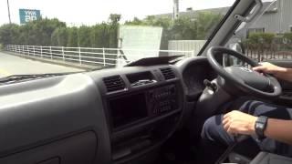 マツダ ボンゴバン 5MTディーゼル フラットローダブルタイヤ 運転動画