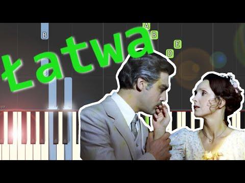 """🎹 Walc z filmu """"Trędowata"""" (W. Kilar) - Piano Tutorial (łatwa wersja) 🎹"""