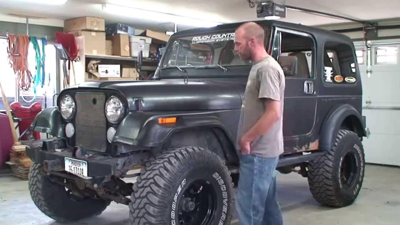 86 Jeep CJ7 Street Legal Rock Crawler For Sale - YouTube