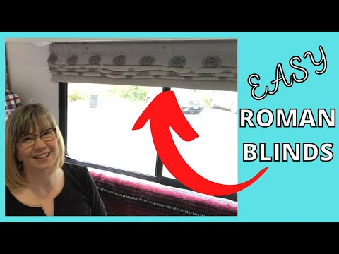 ROMAN BLINDS FOR THE RV / EASY ROMAN BLINDS TUTORIAL / RV ROMAN BLINDS