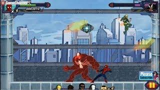 Ultimate Spiderman Iron Spider / Disney Xd / Marvel / For Children / Flash Online Gameplay Video #2