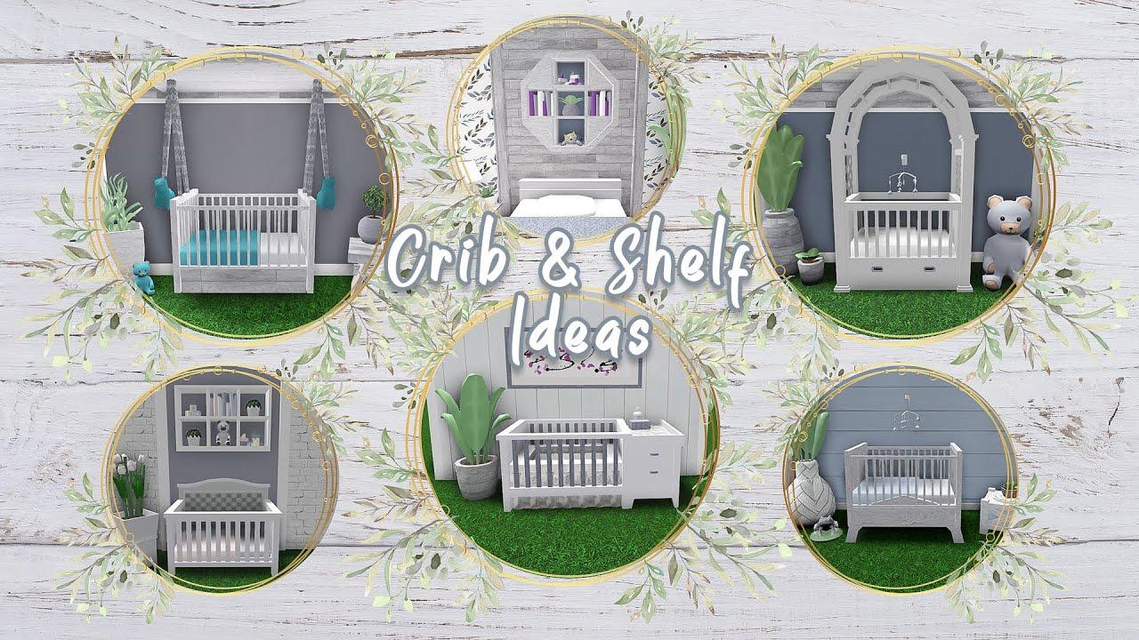 Bloxburg || Furniture Build | Nursery Rooms (w/cribs) - YouTube