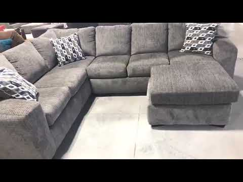 FB Live - Silverton Pewter 2 PC Sectional
