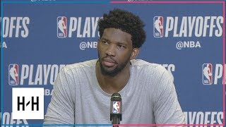 Joel Embiid Postgame Press Conference | Sixers vs Heat - Game 3 | April 19, 2018 | 2018 NBA Playoffs