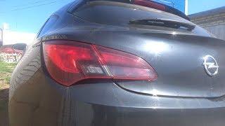 Как снять задние фонари и заменить все лампы. Opel Astra GTC.