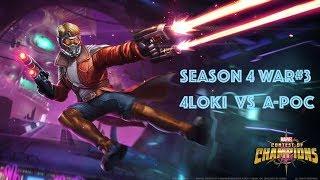 MCOC   AW Season 4 War 3: Turn around? - 4L0KI vs A-Poc