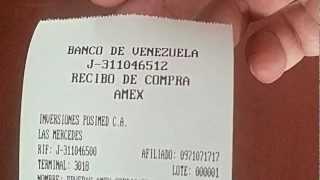 Compra American Express AMEX (Credicard Venezuela) en POS New8110 GPRS