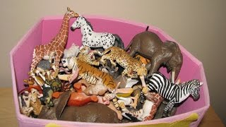 My Animal Toy Collection in the Box Part 2 Schleich Safari Wildlife ZOO Farm Animals Toys