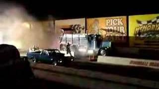 Dump Truck Drag Racing