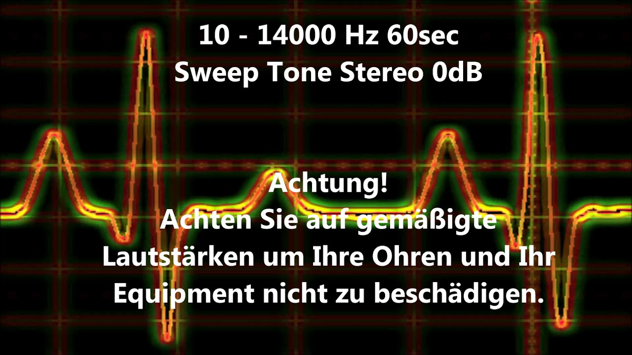 10 - 14000 Hz sweep tone audio sweep tone changing frequency