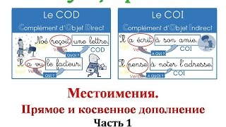 Уроки французского #63: Местоимения. Прямое и косвенное дополнение (1)
