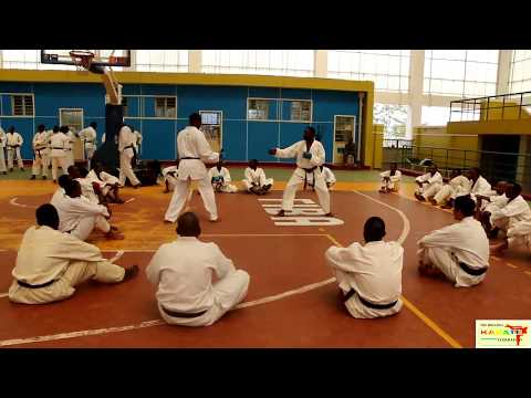 Karate Seminar For Athletes and Coaches Hosted by Rwanda Karate Federation Video Part I Kumite