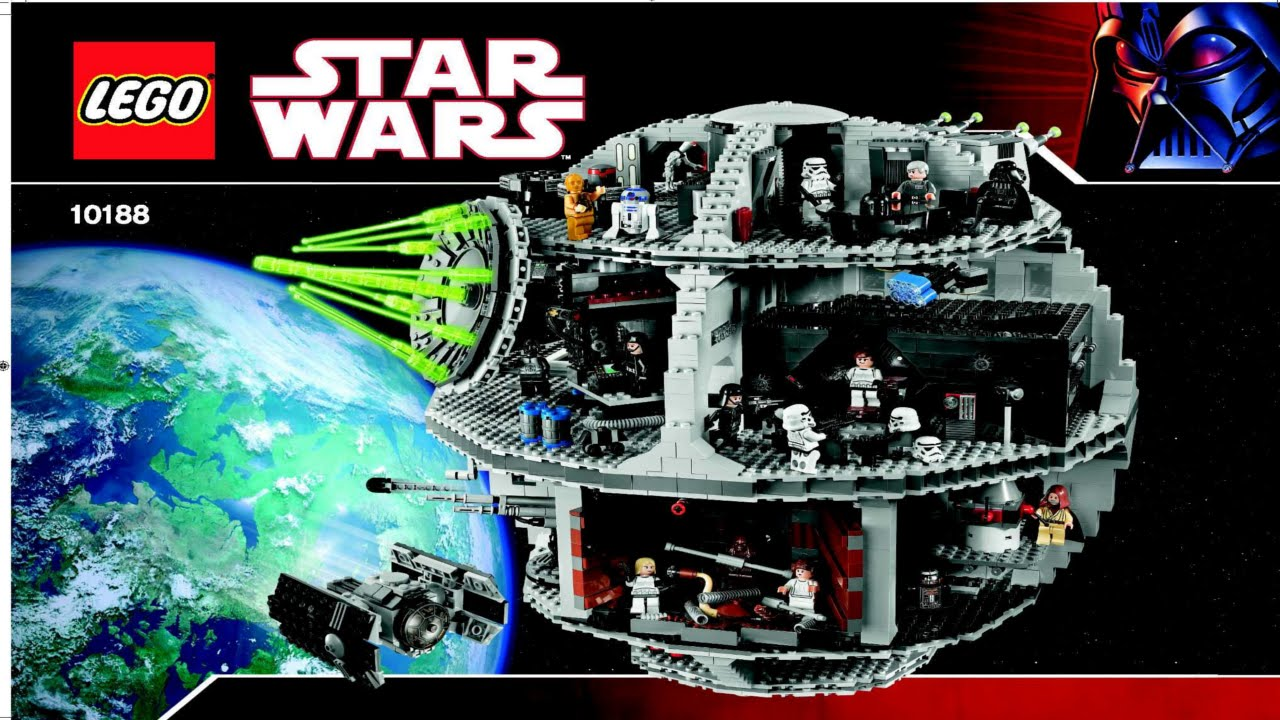 10188 Death Star Lego Star Wars Complete Instruction Booklet Youtube
