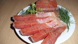 Как солить форель Рецепт засолки красной рыбы(Как правильно засолить красную рыбу в домашних условиях из семейства лососевых.Семга кита кижуч горбуша.Л..., 2014-07-14T15:49:34.000Z)