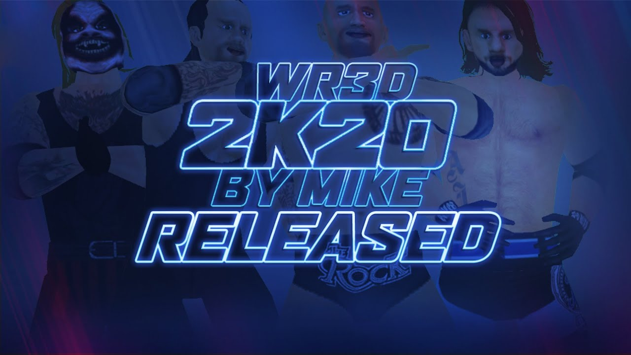 WR3D 2K20 by Mike (For Android & PC) Released | New Moves | New Taunts | New Hairstyles