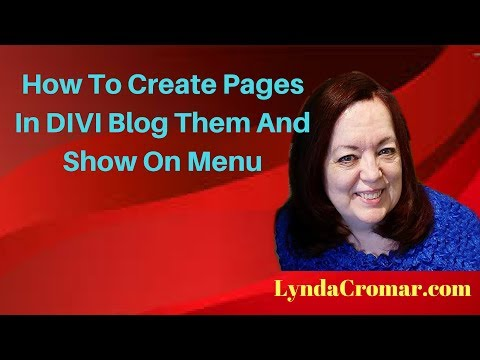 How To Create Pages In DIVI Blog Them And Show On Menu