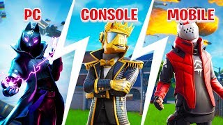 PC vs CONSOLE vs MOBILE CHALLENGE! Fortnite Challenge!