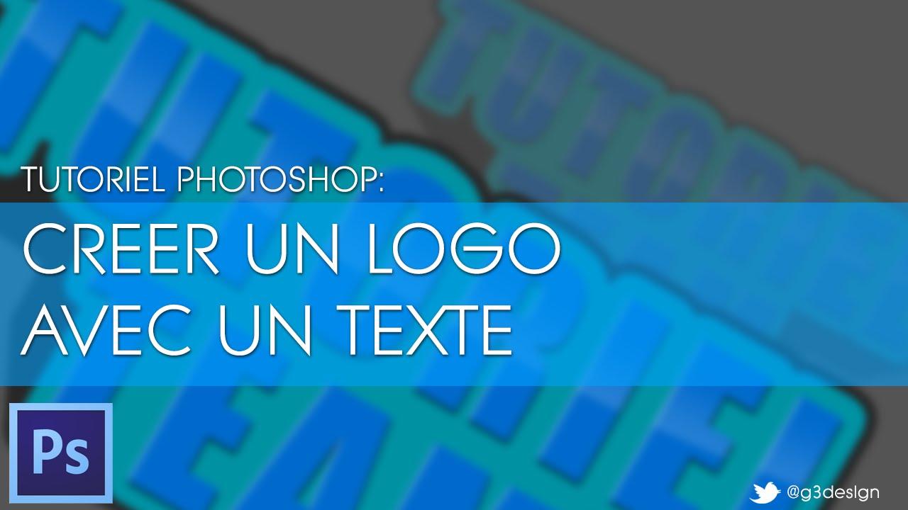 creer un logo texte