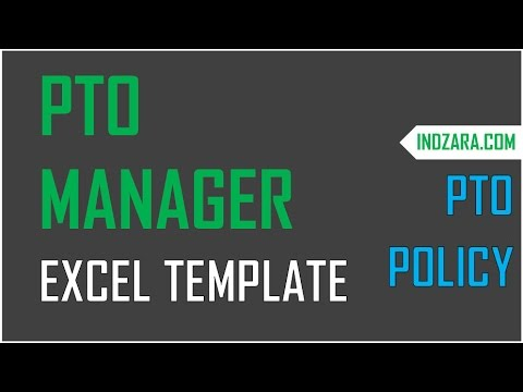 how to set pto policy for employees in pto manager excel template