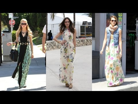 20 Prettiest Celebrity Maxi Dresses