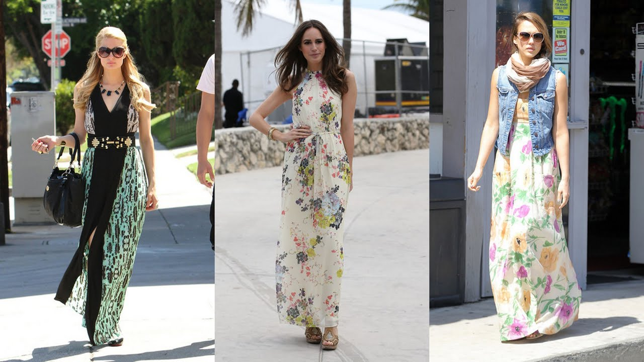20 Prettiest Celebrity Maxi Dresses - YouTube