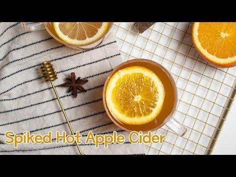 Homemade Hot Spiked Apple Cider
