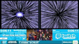 Star Fox 64 by dsx, BeefWellington in 23:25 - Awesome Games Done Quick 2016 - Part 123