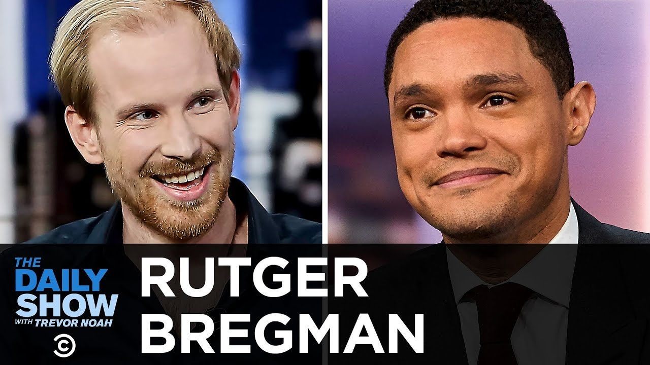 "Rutger Bregman - ""Utopia for Realists"" and Big Ideas for an Equitable Economy 