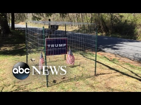 Family Installs Electric Fence to Protect Trump Signs