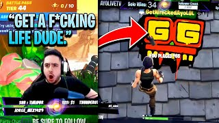 TWITCH STREAMER DIES TO DEFAULT SKIN SO MANY TIMES | KILLING TWITCH STREAMERS Fortnite Battle Royale